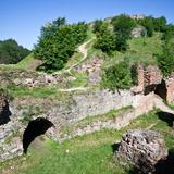 Image: Ruins of the Tarnowski Castle atop St. Martin's Hill, Tarnów